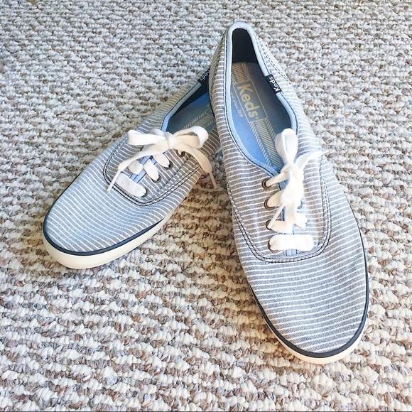 Keds Shoes   Striped Blue White